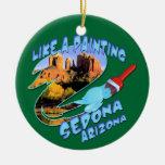 Ornamento de Sedona Arizona Adorno Redondo De Cerámica