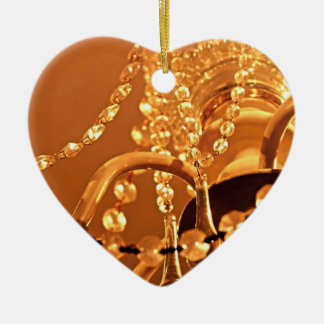 ORNAMENTO de Shabby-Chandelier-Bling-3-Gold-HEART Adorno Navideño De Cerámica En Forma De Corazón