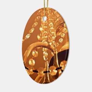 ORNAMENTO de Shabby-Chandelier-Bling-3-Gold-OVAL Adorno Navideño Ovalado De Cerámica
