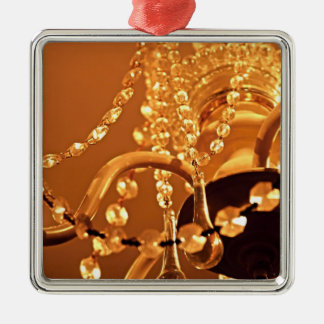 ORNAMENTO de Shabby-Chandelier-Bling-3-Gold-Sq Adorno Navideño Cuadrado De Metal