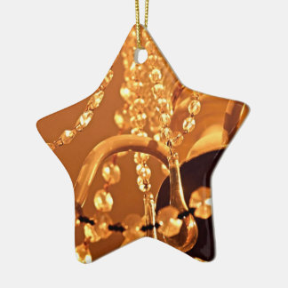 ORNAMENTO de Shabby-Chandelier-Bling-3-Gold-STAR Adorno Navideño De Cerámica En Forma De Estrella