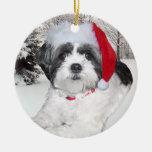 Ornamento de Shih Tzu del navidad Ornaments Para Arbol De Navidad