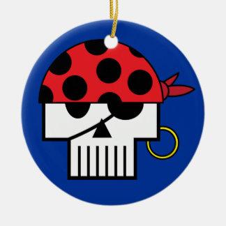 Ornamento de Skulicon del pirata Adorno Para Reyes