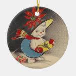 Ornamento de SnowWoman del vintage Ornamento Para Reyes Magos