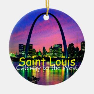 Ornamento de St. Louis Adorno Redondo De Cerámica