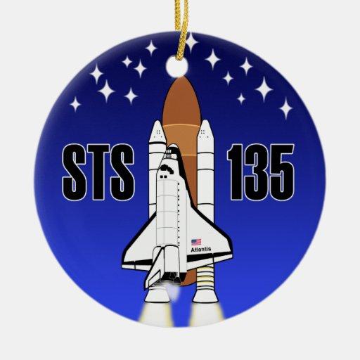 Ornamento de STS-135 la Atlántida Adornos De Navidad