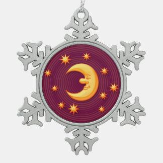 Ornamento de sueño decorativo del navidad de la adorno de peltre en forma de copo de nieve