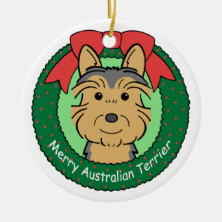 Ornamento de Terrier australiano Ornamento Para Reyes Magos