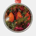Ornamento de tres caquis adornos de navidad