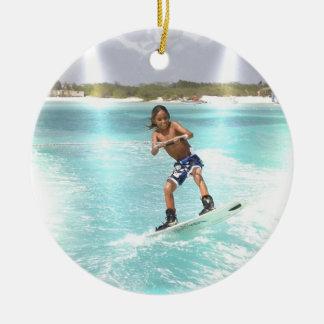 Ornamento de Wakeboarding del niño Ornamentos De Navidad