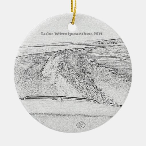 Ornamento de Winnipesaukee del lago Ornamentos Para Reyes Magos