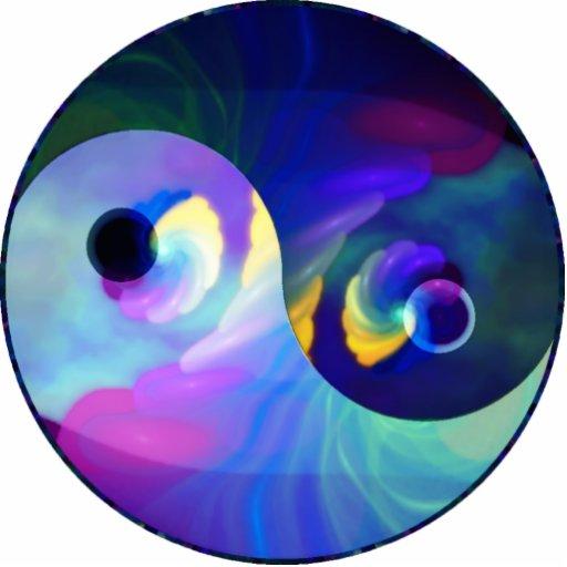 Ornamento de Yin Yang 2x2 Escultura Fotográfica