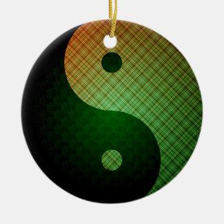 Ornamento de Yin Yang de la sol de la tela Adorno Navideño Redondo De Cerámica