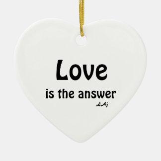 Ornamento de Yin Yang del amor del corazón Adorno De Cerámica En Forma De Corazón