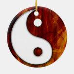 Ornamento de Ying Yang Ornamento De Navidad
