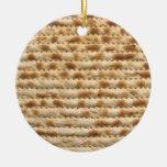 Ornamento/decoración del flatbread de la galleta adorno navideño redondo de cerámica