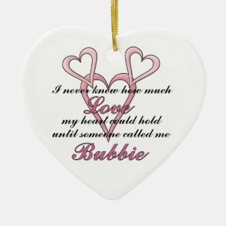 Ornamento decorativo de Bubbie (nunca sabía) Adorno De Cerámica En Forma De Corazón