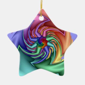 Ornamento decorativo de la estrella con un diseño  ornato
