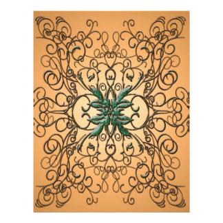 Ornamento decorativo plantilla de membrete