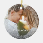 Ornamento dedicado elegante de la foto adorno navideño redondo de cerámica