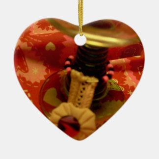 Ornamento:  Degustaciones de vinos, lagar, barra, Adorno Navideño De Cerámica En Forma De Corazón