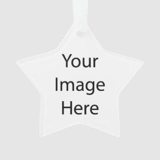 Ornamento del acrílico de la estrella