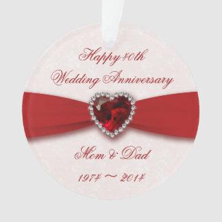 Ornamento del acrílico del aniversario de boda del