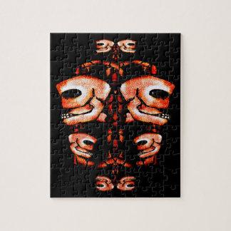Ornamento del adorno del cráneo rompecabezas