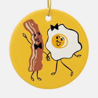 Ornamento del amante del huevo de N del tocino ' Ornamento De Navidad