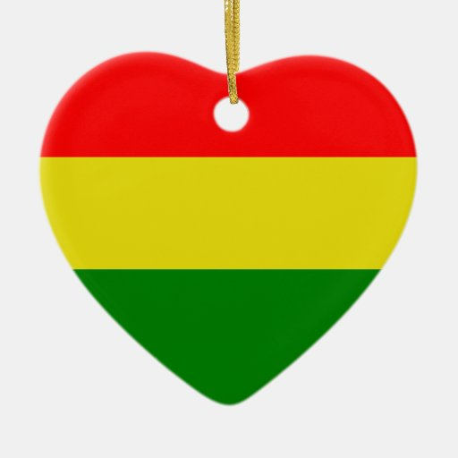 Ornamento del amor de Rasta Adorno Navideño De Cerámica En Forma De Corazón
