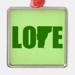 Ornamento del amor de Vermont Adorno De Reyes