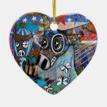 Ornamento del amor del burro adorno de navidad