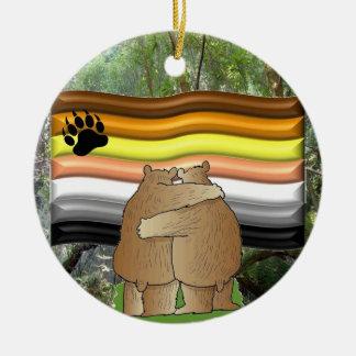 Ornamento del amor del oso ornamentos de navidad