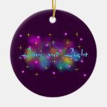 Ornamento del amor y de la luz ornamentos de navidad