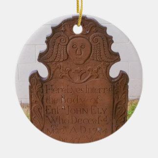 Ornamento del ángel de Juan Ely Adorno Navideño Redondo De Cerámica