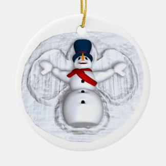 Ornamento del ángel de la nieve del muñeco de niev ornamentos para reyes magos