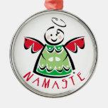 Ornamento del ángel de Namaste del día de fiesta Ornamento De Reyes Magos