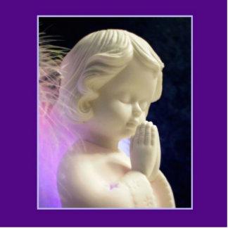 Ornamento del ángel fotoescultura vertical
