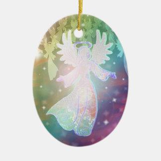 Ornamento del ángel - óvalo ornamento para arbol de navidad