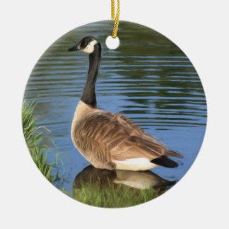 Ornamento del animal de la pintura del ganso de Ca Ornamentos Para Reyes Magos