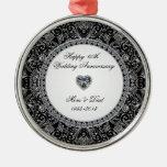 Ornamento del aniversario de boda de diamante ornamentos de reyes magos