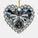 Ornamento del aniversario de boda de diamante ornamento de navidad