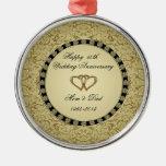 Ornamento del aniversario de boda de oro adorno para reyes