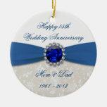 Ornamento del aniversario de boda del damasco 45.o