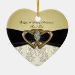 Ornamento del aniversario de boda del damasco 50.o ornamento de reyes magos