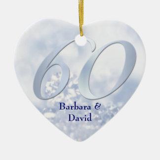 Ornamento del aniversario del diamante ornamento de navidad