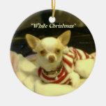 """Ornamento del árbol de la chihuahua del """"navidad b ornaments para arbol de navidad"""