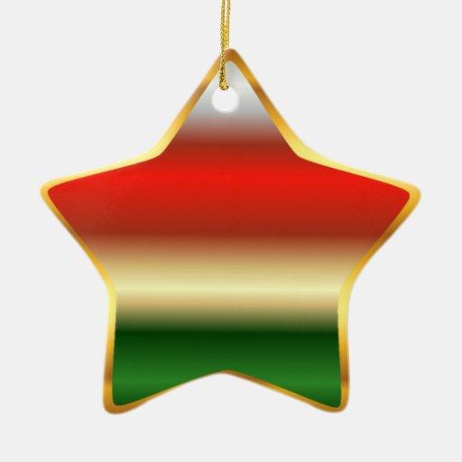 Ornamento del árbol de la estrella del navidad adorno navideño de cerámica en forma de estrella