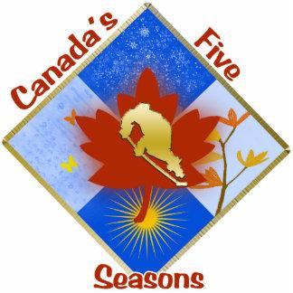 Ornamento del árbol de las 5 estaciones de Canadá Escultura Fotográfica