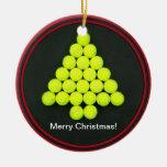 Ornamento del árbol de las pelotas de tenis adorno